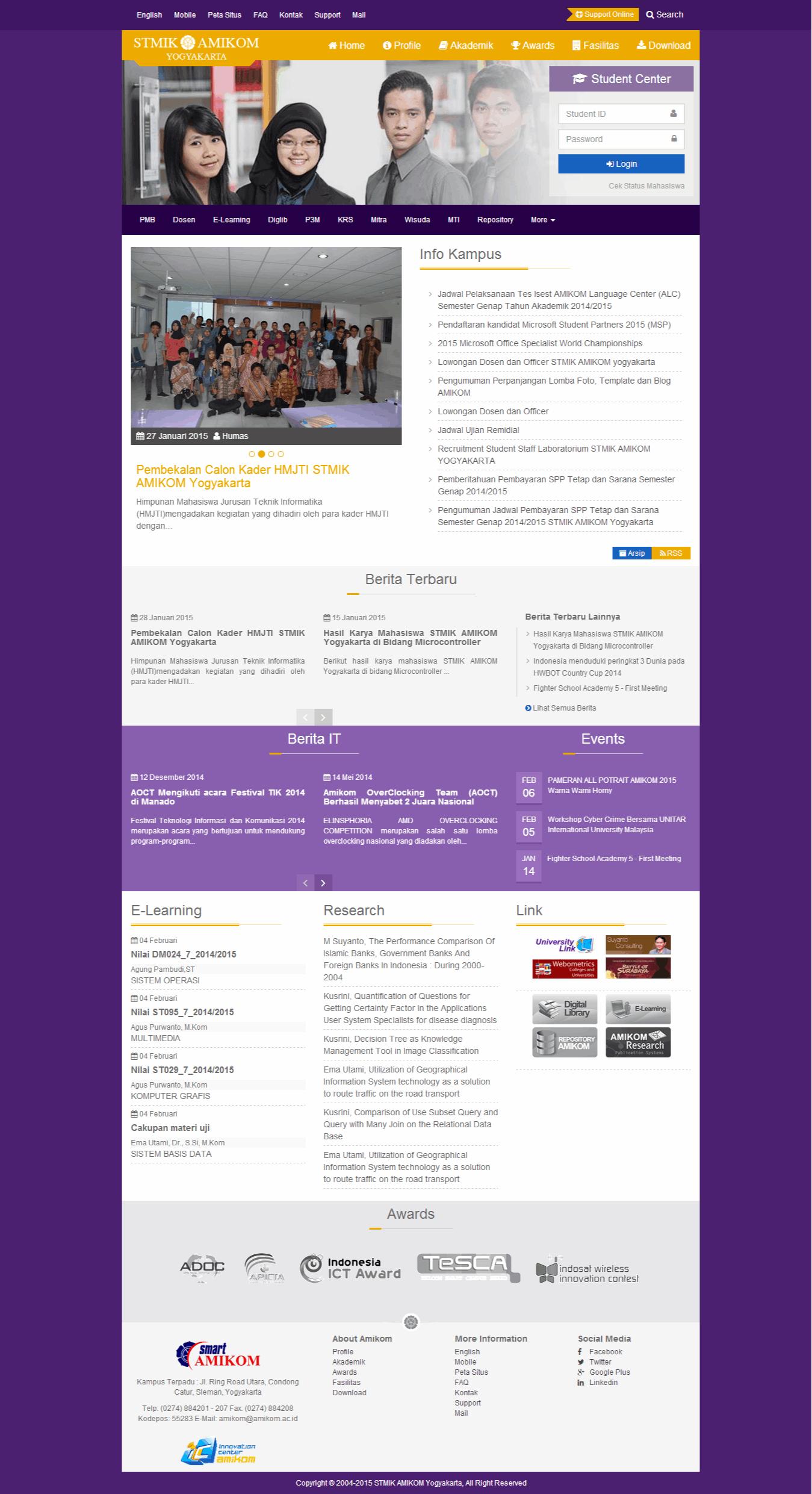 Design Homepage Amikom
